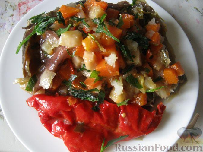 Рецепт Баклажаны квашеные, фаршированные овощами