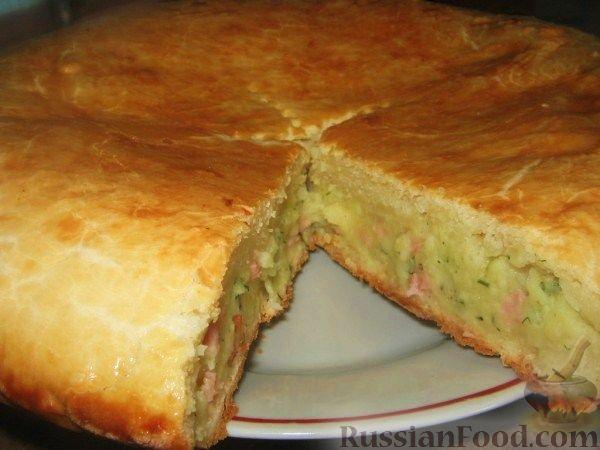 Пирог с картошкой и сыром в духовке рецепт пошагово 15