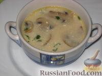 Фото к рецепту: Грибной сливочный суп с перловкой