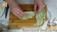 """Фото приготовления рецепта: Голубцы """"Необыкновенные"""" из пекинской капусты - шаг №22"""