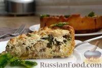 Фото к рецепту: Открытый пирог со скумбрией и творогом