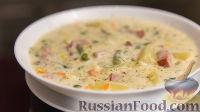 Фото к рецепту: Картофельный суп с ветчиной
