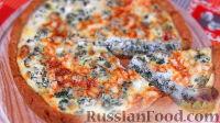 Фото к рецепту: Пирог с фетой и шпинатом