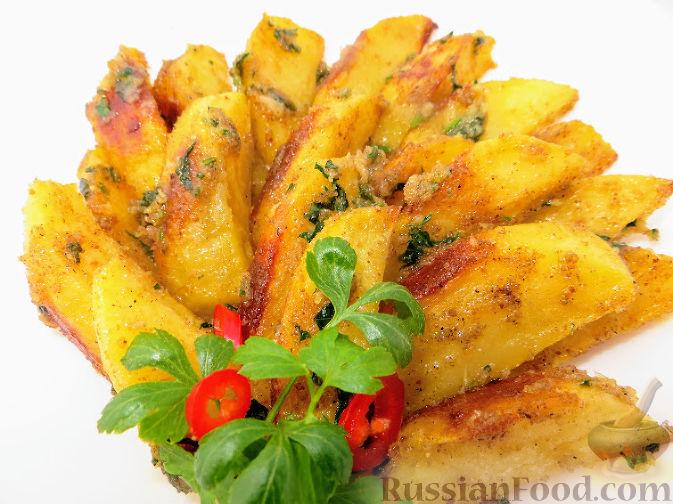 Чесночная картошка в духовке рецепт