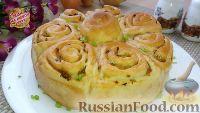 Фото к рецепту: Постный разборный пирог, или Булочки с луком