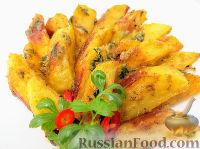 """Фото к рецепту: Чесночная картошка """"Объедение"""" в духовке"""