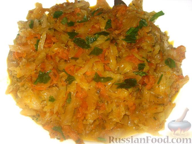 Рецепт Капуста тушеная с овощами
