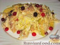 Фото к рецепту: Капустный салат с сельдью