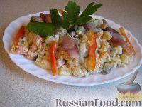 Фото к рецепту: Салат из сельди с красным перцем – «Украинский»