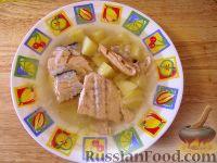 Фото к рецепту: Рыбный суп из обрези семги (рецепт поморской трапезы)
