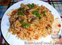 Фото к рецепту: Постный рис с овощами и грибами