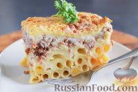 Фото к рецепту: Макаронная запеканка с мясом и соусом бешамель