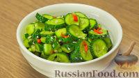 Фото к рецепту: Битые огурцы по-китайски