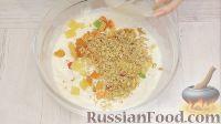 Фото приготовления рецепта: Творожная пасха с орехами, цукатами и кокосовой стружкой - шаг №5