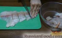Фото приготовления рецепта: Рыбные блины с красной икрой - шаг №3