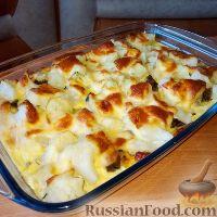 Фото к рецепту: Запеканка из цветной капусты и куриной печени