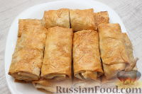 Фото к рецепту: Быстрые пирожки из лаваша с капустой и мясом