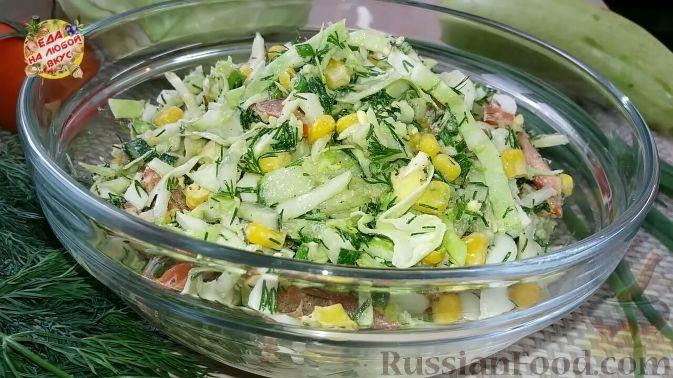 Салат из крабовых палочек, кукурузы и яиц - пошаговый 14