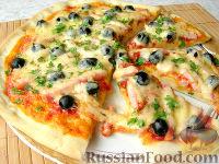 """Фото к рецепту: Домашняя пицца """"Как я люблю"""""""