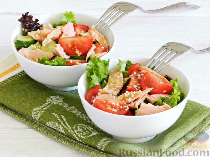 салат обжорка рецепт с рыбкой в томатной пасте