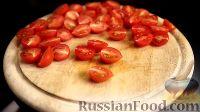 Фото приготовления рецепта: Спаггети с курицей и помидорами черри - шаг №9