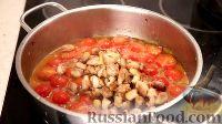 Фото приготовления рецепта: Спаггети с курицей и помидорами черри - шаг №13