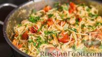 Фото приготовления рецепта: Спаггети с курицей и помидорами черри - шаг №20