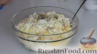 Фото приготовления рецепта: Быстрые лепешки на кефире, с начинкой - шаг №5