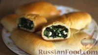 Фото к рецепту: Весенние пирожки с черемшой, зелёным луком и яйцом