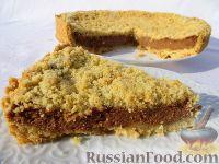 Фото к рецепту: Насыпной пирог с начинкой из творога