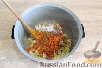 Фото приготовления рецепта: Куриный суп с красной чечевицей (в мультиварке) - шаг №6