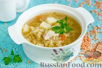 Фото приготовления рецепта: Куриный суп с красной чечевицей (в мультиварке) - шаг №9