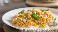 Фото к рецепту: Рисовая лапша с соусом из кабачков