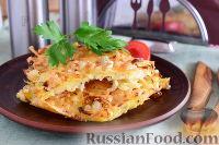 Фото к рецепту: Гигантский картофельный драник (в духовке)