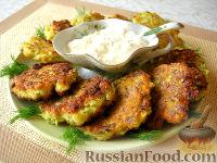 Фото приготовления рецепта: Соленые сырники с кабачком и укропом - шаг №9