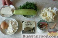 Фото приготовления рецепта: Соленые сырники с кабачком и укропом - шаг №1