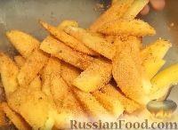 Фото приготовления рецепта: Картофель с корочкой, запечённый в духовке (в сухарях) - шаг №4