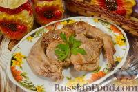 Фото приготовления рецепта: Кролик, тушенный в вине - шаг №10