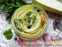 Фото к рецепту: Кабачок, маринованный с соевым соусом