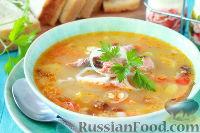 Фото к рецепту: Суп из копченого лосося