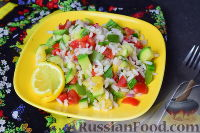 Фото к рецепту: Овощной салат с рисом