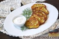 Фото к рецепту: Оладьи из кабачков с сыром