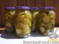 Фото к рецепту: Маринованные кабачки на зиму