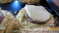 Фото приготовления рецепта: Гнезда из кабачка с фаршем - шаг №8
