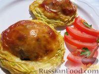 Фото к рецепту: Гнезда из кабачка с фаршем