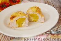 Фото к рецепту: Запеченное куриное филе с персиком