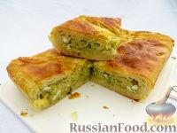 Фото к рецепту: Капустный пирог из домашнего слоено-дрожжевого теста