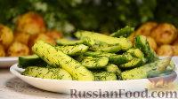 Фото к рецепту: Быстрые малосольные огурцы с чесноком и укропом, без уксуса