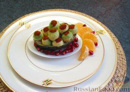 Рецепт Авокадо, фаршированный крабовыми палочками