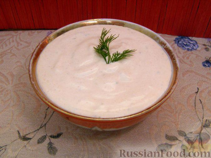 Рецепт Сметанный соус с горчицей и томатом